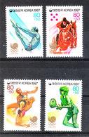 Corea Sud - 1987. Tuffi, Equitazione, Lotta, Tennis. Diving, Riding, Fighting, Tennis. Complete MNH Series - Ete 1988: Séoul