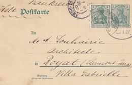 ALLEMAGNE ENTIER POSTAL DEUTSCHES REICH EN 1907 POUR ROYAT PUY DE DOME - Deutschland