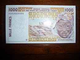 AFRIQUE DE  L'OUEST -   MALI *   1000  Francs    NEUF   UNC - Mali