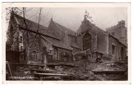 CPA -  Photo - St Woollas Church , Newport. Mon - Pays De Galles
