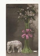 Elephant Blanc Porte Bonheur  Lucky White Elephant Vase Art Nouveau Gui  Siam Symbol Ivoire Ivory - Éléphants