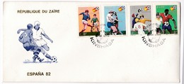 M458 Zaire FDC 1981 Football World Championship 1982 Spain - Coupe Du Monde