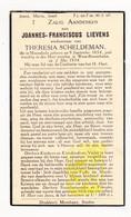 DP Joannes F. Lievens ° Moorslede 1854 † Westrozebeke Staden 1934 X Theresia Scheldeman - Imágenes Religiosas