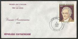 Centrafricaine 1982 509 FDC Goethe Portrait Tableau - Centrafricaine (République)