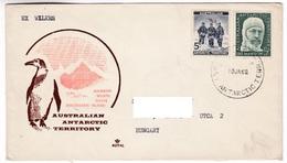 M461 Australian Antarctic Territory 1962 WILKES To Hungary - Territoire Antarctique Australien (AAT)
