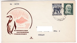 M462 Australian Antarctic Territory 1961 DAVIS To Hungary - Territoire Antarctique Australien (AAT)