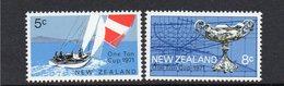 NEW ZEALAND, 1971 ONE TON CUP 2 MNH - Nueva Zelanda