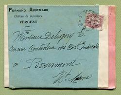"""VERGEZE  (30) : """" Vin Fernand AUDEMARD - Château De Boissières """"  Dépliant  Publicitaire 1913 - Werbung"""
