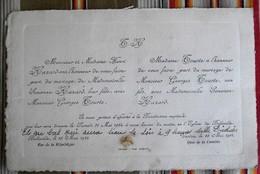 55 BELLEVILLE Verdun TOURTE HAZARD 1924 - Mariage