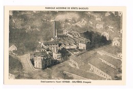 88- BRUYERES. Fabrique De Bérets Basques. Ets Henri VEYRIER. (Anciennement Meyrueis Lozère Jusqu'en 1910). 2 SCANS - Bruyeres