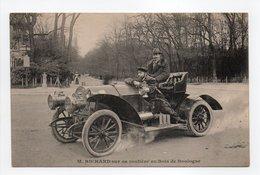 - CPA PARIS (75) - M. RICHARD Sur Sa Routière Au Bois De Boulogne (superbe Gros Plan) - - Nahverkehr, Oberirdisch