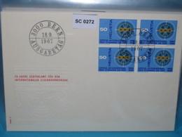 SC0272 FDC 75 Jahre OCTI, Zentralamt Für Intern. Eisenbahn-Verkehr, Schweiz 1967 # Railway Chemin De Fer Ferrocarril Fer - Poststempel