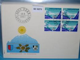 SC0273 FDC Eröffnung San Bernardino Straßentunnel, Tunnel, Verkehr, Schweiz 1967 - Poststempel