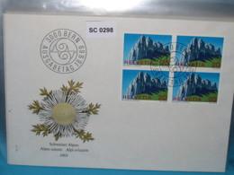 SC0298 FDC Schweizer Alpen, Kreuzberge Alpstein, Berg, Schweiz 1969 - Poststempel