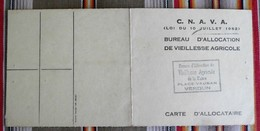 55 VERDUN Carte Allocation Vieillesse Agricole GENICOURT SUR MEUSE - Cartes