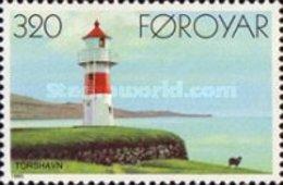 MNH STAMPS Faroe-Islands - Lighthouses-  1985 - Faroe Islands