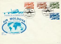 Moldova - 1993 - Airplane / Concorde FDC - Concorde