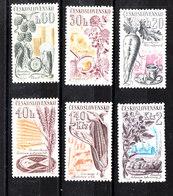 Cecoslovacchia - 1961. Carote, Luppolo, Grano, Mais, Trifoglio, Patate.carrots, Hops, Wheat, Corn, Clover, Potatoes MNH - Agricoltura