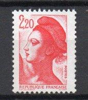 - FRANCE Variété N° 2382c ** - 2 F. 20 Rouge Type I Liberté 1985 - 2 BARRES DE PHOSPHORE A GAUCHE - Cote 45 EUR - - Variétés Et Curiosités
