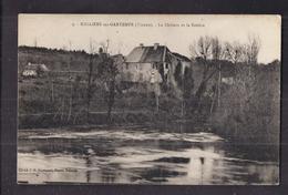 CPA 86 - NALLIERS-sur-GARTEMPE - Le Château Et La Rivière - TB PLAN EDIFICE - France