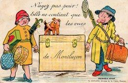 03 Montluçon :carte à Systeme Avec Petit Depliant - Montlucon