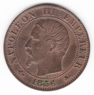 5 Centimes Napoléon III Tête Nue 1856 D - France