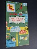 2.1) SVIZZERA SWITZERLAND SCHWEIZ SUISSE BELLA CARTA TURISTICA ILLUSTRATORE MULLER VEDI FOTO - Carte Geographique