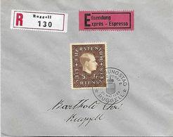Liechtenstein 1939: Fürst Franz-Josef II. Zu 149 Mi 185 Yv 160 Auf R-FDC Mit ET-o RUGGELL 29.MAI 1939 (Zu CHF 100.00) - FDC