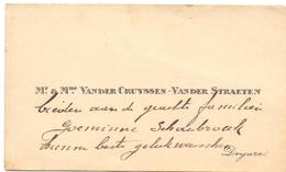 Visitekaartje - Carte Visite - Mr & Mme Vander Cruyssen - Vander Straeten  - Deinze - Cartes De Visite