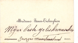 Visitekaartje - Carte Visite - Madame Janss - Tieberghien - Deinze - Cartes De Visite