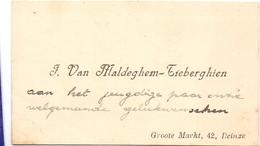 Visitekaartje - Carte Visite - J. Van Maldeghem - Tieberghien  - Deinze - Cartes De Visite