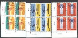 Schweiz Internationale Fernmeldeunion (UIT) Mi 11 - 13 Postfr M. Druckdatum 4er Eckrand - Servizio