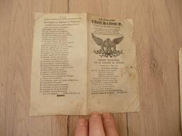 Chansonnier Chanson Patriotique Aubert Le Galant Troubadour Sur La Colonne De Juillet Aigle Napoléon 4 Pages - Musique & Instruments