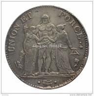 FAUX :SUPERBE Réplique écu De 5 Francs An 4 A - DIRECTOIRE - 1795 **UNION ET FORCE** COPIE - France