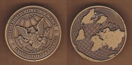 AC - DEFENSE THREAT REDUCTION AGENCY UNITED STATES OF AMERICA BRASS MEDAL MEDALLION - Other