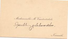 Visitekaartje - Carte Visite - Mademoiselle M. Vander Stichele  - Nazareth - Cartes De Visite
