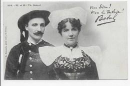 Karten Bost - M. Et Mme. Th. Botrel - Harmonic 203 - Dos Simple - France