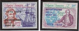 BV - PA142 / 143 ** MNH De 1979 - Surcharge Mort De  JAMES COOK  - - Polynésie Française
