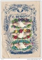 - Chromo Découpis  Chicorée BERIOT LILLE - Sur Son Support D'origine  La Belle Jardinniere - 12cm Par 18 Cm - Mains - Gesneden Chromo's
