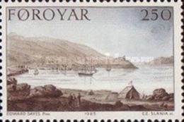 MNH STAMPS Faroe-Islands - Paintings - Stanley's Journey -  1985 - Faroe Islands