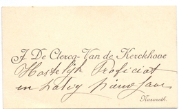 Visitekaartje - Carte Visite - J. De Clercq - Van De Kerckhove  - Nazareth - Cartes De Visite