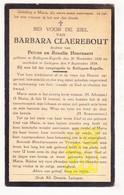 DP Barbara Claerebout / Hoornaert ° Rollegem-Kapelle 1850 † Ledegem 1934 - Devotion Images