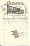 Facture 1/2 Format 1896 / LYON / A La Scabieuse Grande Maison De Deuil / J. BULAND Confections - Allemagne