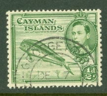 Cayman Islands: 1938/48   KGVI   SG116   ½d    [Perf: 13 X 11½]   Used - Cayman Islands