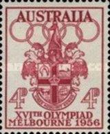 USED STAMPS Australia - Olympic Games - Melbourne, Australia -  1956 - 1952-65 Elizabeth II : Pre-Decimals