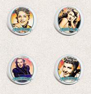 Jean Arthur Movie Film Fan ART BADGE BUTTON PIN SET 3 (1inch/25mm Diameter) 35 X - Films