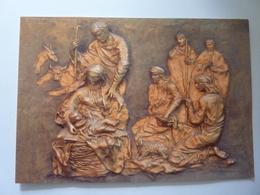"""Biglietto Auguri """"Fontana Di S. Giuseppe NATIVITA'  Giardini Vaticani Papa BENEDETTO XVI"""" Anno 2010 - Vecchi Documenti"""