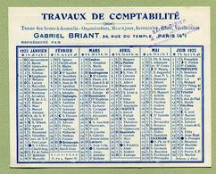 """PARIS & SAINT-DIZIER : TRAVAUX DE COMPTABILITE Gabriel BRIANT """"  1922 - Kalenders"""