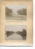 PHOTO  4 Photos  Originales Collées ENTREE CHATEAU MOTTE CHAMPDENIERS ET VUE CHATEAU DISSAIS - Lugares