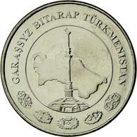 Monnaie, Turkmanistan, 5 Tenge, 2009, SPL, Nickel Plated Steel, KM:97 - Turkmenistan